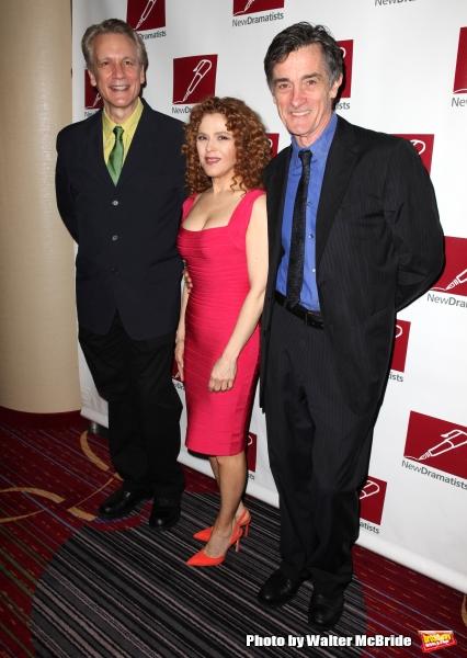 Rick Elice, Bernadette Peters & Roger Rees