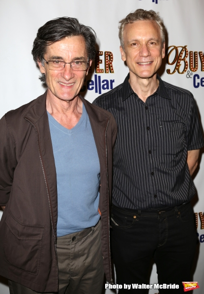 Roger Rees, Rick Elice attends the opening night for ''Buyers & Cellars'' at the Barrow Street Theatre on June 24, 2013 in New York City.