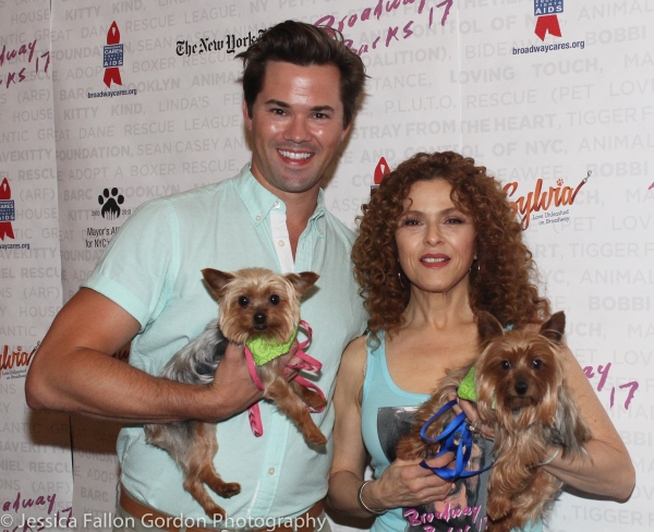 Andrew Rannells and Bernadette Peters