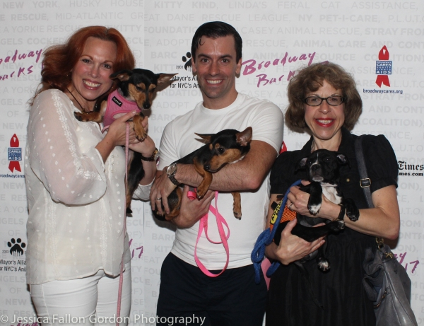 Carolee Carmello, Clyde Alves and Jackie Hoffman
