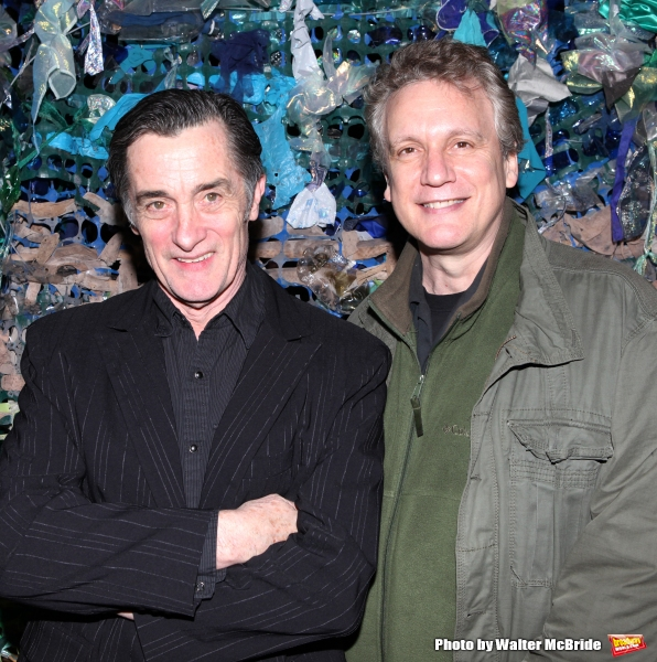 Roger Rees & Rick Elice attending the opening Night After Party for ''Peter and the Starcatcher'' at Phebe''s  in New York City.