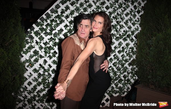 Roger Rees & Brooke Shields attending the After Performance Reception for Brooke Shields debut in ''The Addams Family'' at the Empire Hotel Roof in New York City.