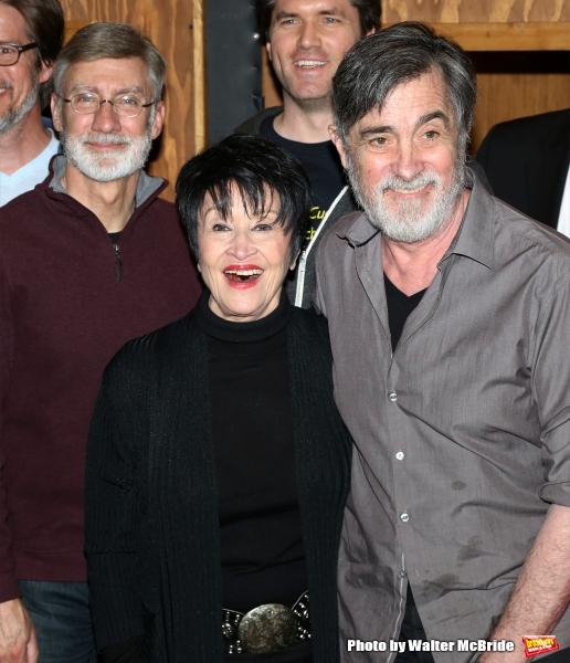 David Garrison, Chita Rivera and Roger Rees during the Original Broadway Cast Recording of ''The Visit'' at Avatar Recording Studio on April 27, 2015 in New York City.