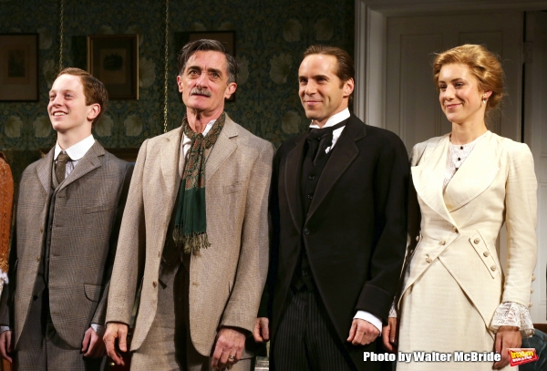 Spencer Davis Milford, Roger Rees, Alessandro Nivola and Charlotte Parry during the Opening Night Curtain Call for ''The Winslow Boy''  at the American Airlines Theatre on October 17, 2013 in New York City.