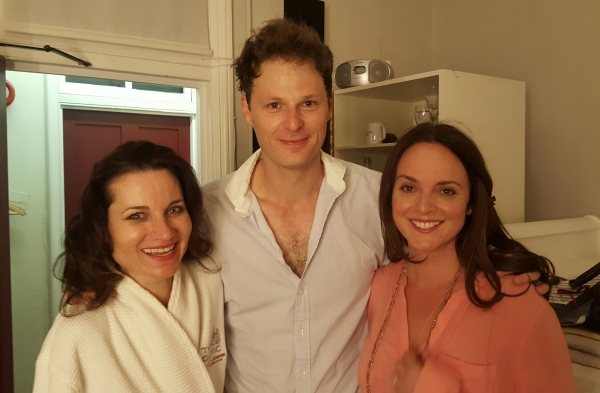 Pictured: Kate Fleetwood, Rupert Young and Melissa Errico