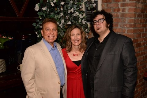 Producer Paul T. Boghosian with Elizabeth Searle (books & lyrics) and Michael Teoli (music)