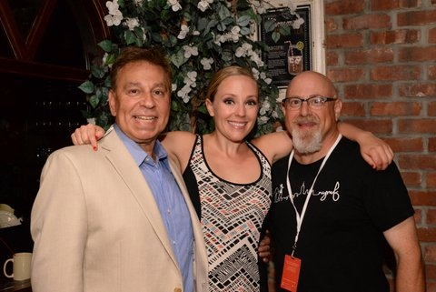 Producer Paul T. Boghosian, Tracy McDowell and NYMF's Board President Charlie Fink