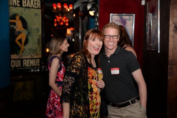 Teacher Debbie Rollins and Broadway Sound Designer Matt Kraus Photo