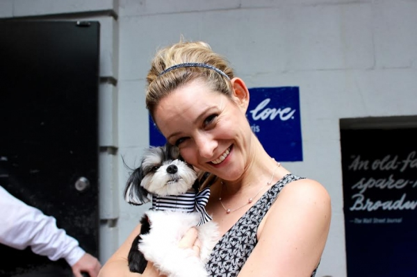 Jill Paice and Tinkerbelle the Dog