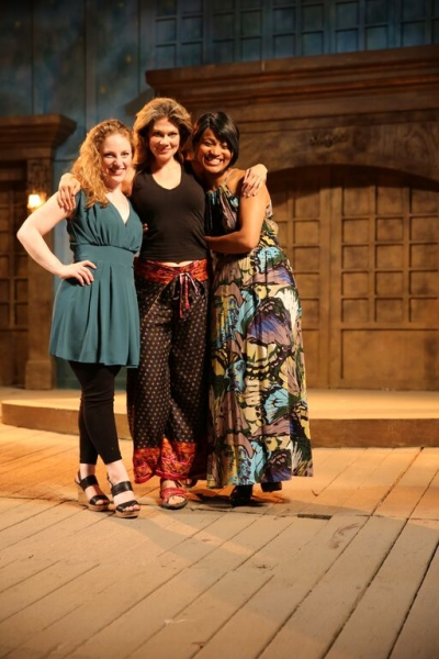 Ann Marie White as ''Perdita'', Melissa Carlson as ''Hermione'', and Diana Coates as ''Paulina''