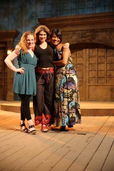 Ann Marie White as ''Perdita'', Melissa Carlson as ''Hermione'', and Diana Coates as ''Paulina''