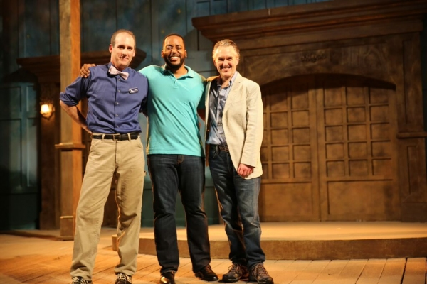 Kevin McKillip as ''Leontes'', Kyle Haden as ''Camillo'', and Michael Joseph Mitchell Photo