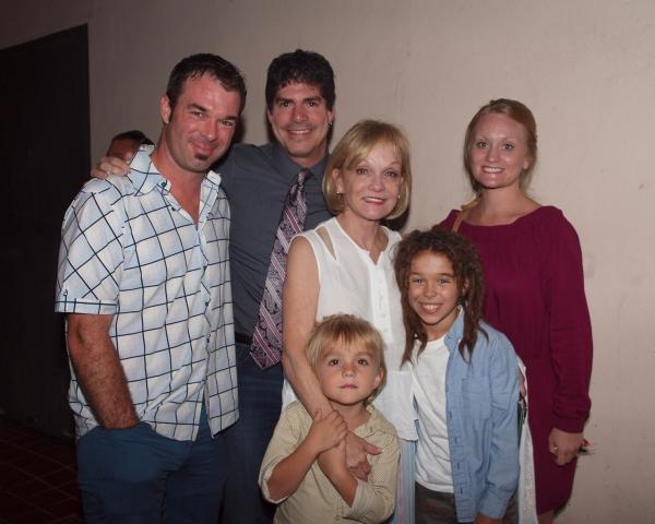 Buck Mason, Paul Rubin, Cathy Rigby, Wyatt Flemming, Jude Mason, and Theresa McCoy Flemming