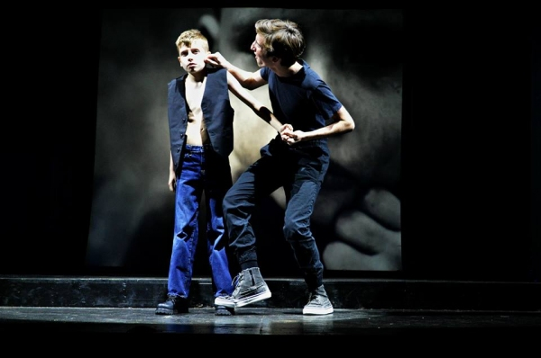 Owen Mannion as Cousin Kevin with Josh Atkinson as Young Tommy