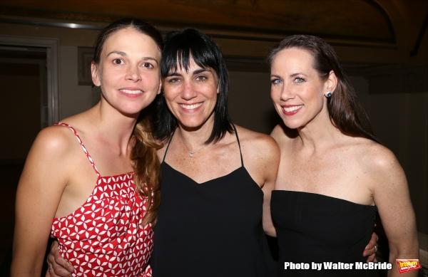 Sutton Foster, Leigh Silverman and Miriam Shor