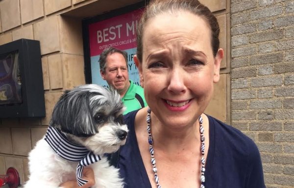 Tinkerbelle the Dog with Harriet Harris