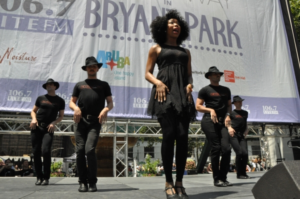 Brandy Norwood and her boys-David Bushman, Andrew Fitch, Denny Paschall and Michael Scirrotto