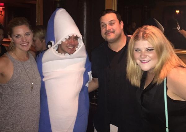 Max Adler with Taylor Louderman, Benjamin Rauhala, and Ryann Redmond