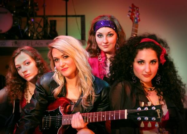Alyssa Batsakis, Julie Grisham as Sherrie, Micala Behrens and Sarah Lazar Photo