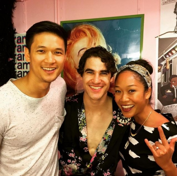 Photo Flash: GLEE's Harry Shum Jr. Visits Darren Criss At HEDWIG