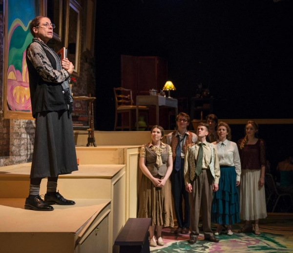 Aaron Buinis as Gertrude Stein with Maisie Rose, Jake Morrissy, Andrew Lund, George T Photo