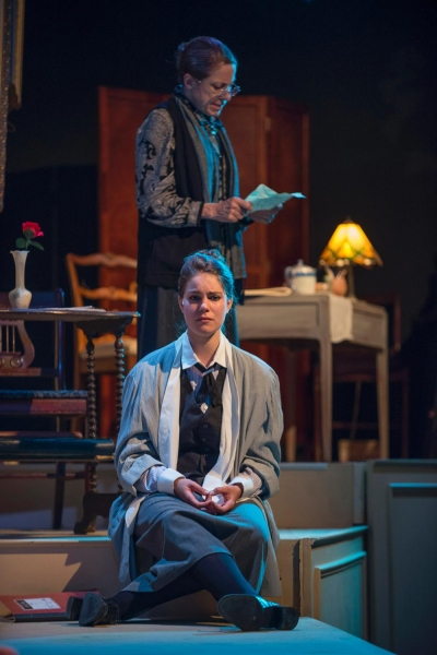 Amanda Giles as Young Gertrude and Caron Buinis as Gertrude Stein