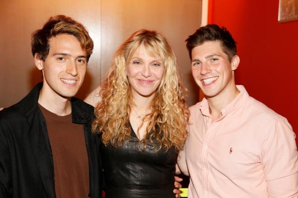 Ryder Bach, actress/musician Courtney Love and  Curt Hansen