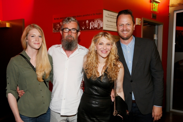 Nancy Waters, Director Les Waters, actress/musician Courtney Love and Todd Almond, who wrote the book for GIRLFRIEND