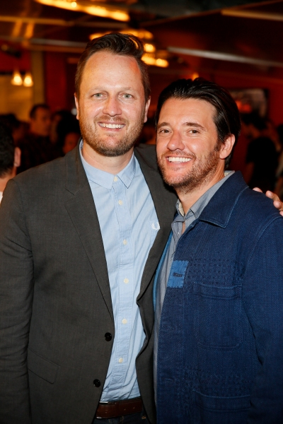 Todd Almond, who wrote the book for GIRLFRIEND, and actor Jason Butler Harner