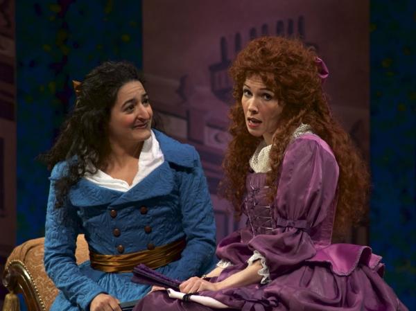 Annie Keris (Julia Melville) and Laurel Schroeder (Lydia Languish)