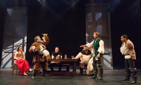 Alan Ball (Falstaff), Shawn Pfautsch (Prince Hal), Brandon Saunders (Poins)