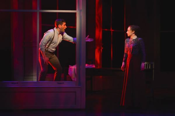 Vincenzo (Zachary Prince) reaches for Sarah (Megan McGinnis)