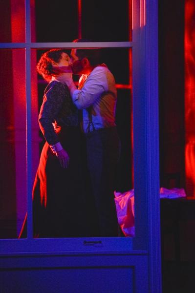 Sarah (Megan McGinnis) and Vincenzo (Zachary Prince) share a final kiss