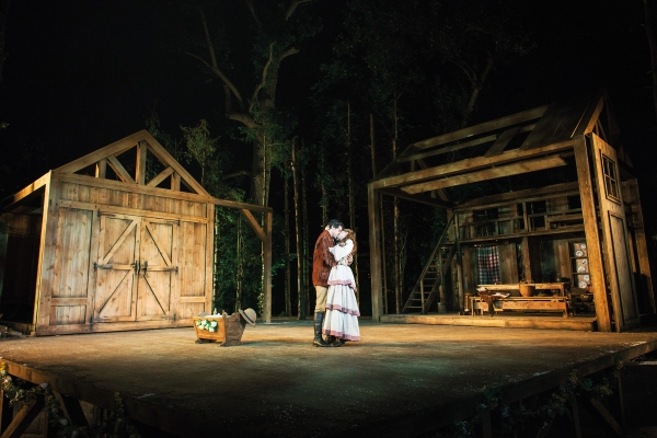 Photo Flash: New Shots of Alex Gaumond and Laura Pitt-Pulford in SEVEN BRIDES FOR SEVEN BROTHERS at Regent's Park
