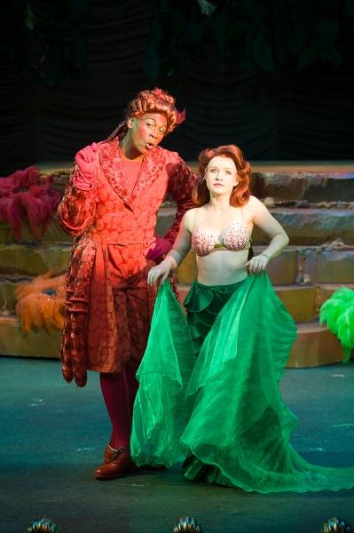 Nkrumah Gatling (Sebastian) and Adrienne Eller (Ariel)