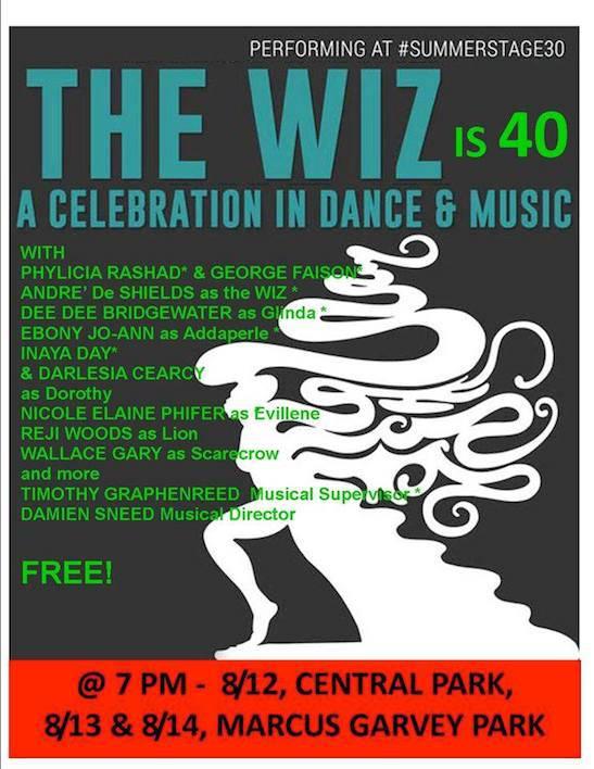 Phylicia Rashad, Andre De Shields & More Original Cast Reunite for THE WIZ in Central Park Today