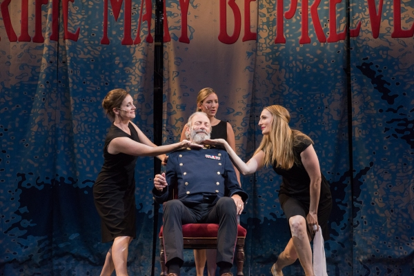 Regan (Jeanine Kane), Cordelia (Libby McKnight), King Lear (Will Lyman) and Goneril (Deb Martin)