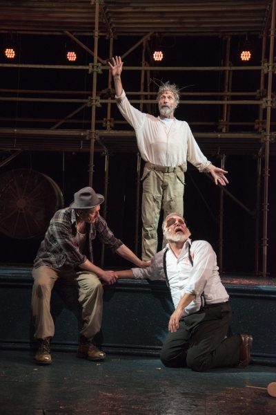 Edgar (Edward Hoopman), King Lear (Will Lyman) and Earl of Gloucester (FrEd Sullivan, Jr.)
