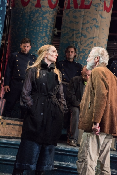 Goneril (Deb Martin) and King Lear (Will Lyman)