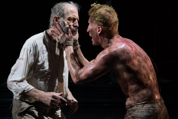 King Lear (Will Lyman) and Edgar (Edward Hoopman)