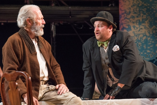 King Lear (Will Lyman) and Fool (BranDon Whitehead)