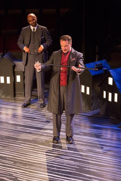 Usman Ally as Doctor Watson and Euan Morton as Sherlock Holmes
