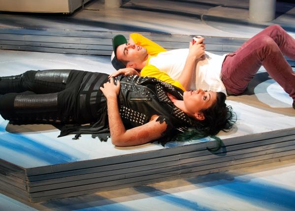 Elena Murray as Dragon Girl and Gasper Gray as Loser Boy