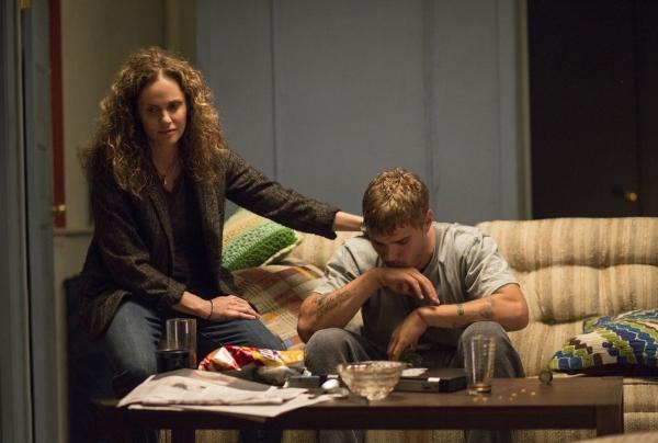Amy Brenneman as Laurie Garvey; Chris Zylka as Tom Garvey
