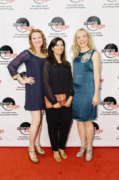 Jennifer Laura Thompson and Rachel Bay Jones with Shafaq Saeed