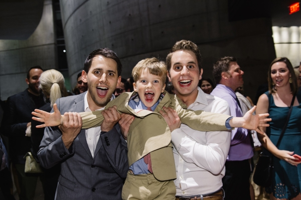 Benj Pasek, Iain Armitage and Ben Platt