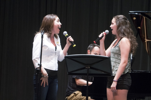 Andrea Burns and camper Carlyn Barenholtz sing 'Home' from BEAUTY AND THE BEAST