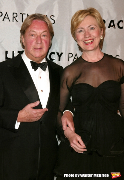 Arnold Scaasi and Hillary Rodham Clinton