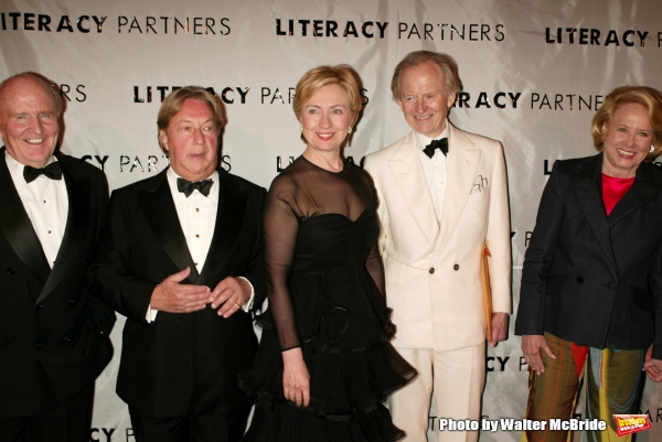 Jack Welch, Arnold Scaasi, Hillary Rodham Clinton, Tom Wolfe and Liz Smith