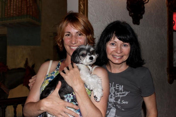Tinkerbelle with choreographers Mary Ann Lamb and Lisa Gajda Photo